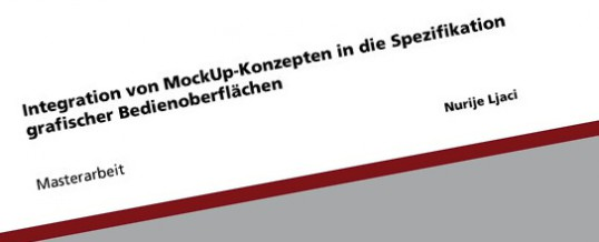 Mockup in der Spezifikation