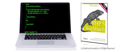 """<span class=""""caps"""">PHP</span> 5&nbsp;Kochbuch"""